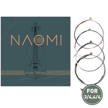 1 zestaw Naomi struna do skrzypiec G D i E 3 4 4 4 struna do skrzypiec s ze stali nierdzewnej stalowy rdzeń struny struna do skrzypiec s tanie i dobre opinie Banjolele Skrzypce użytkowania VT0908-049