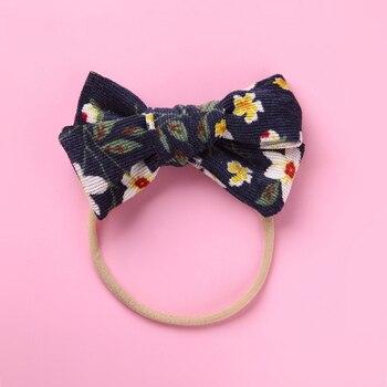 цена на Headwear Baby Headband for Girls Kids Infant Toddler Newborn Flower Printed Bow Knot Hair Band Nylon Headwraps Hair Accessories