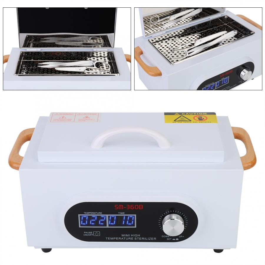 LCD Scree High Temperature Nail Sterilizer 300W Lab Disinfection Box Dry Heat Sterilization Towel Salon Beauty Equipment
