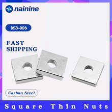 DIN562 M3 M4 M5 M6 M8 цинковое покрытие-белые квадратные тонкие гайки из углеродистой стали