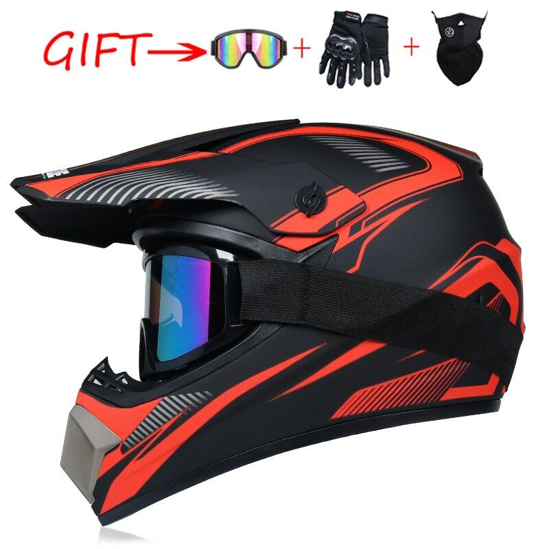 Send 3 pieces gift motorcycle helmet children off-road helmet bike downhill AM DH cross helmet capacete motocross casco