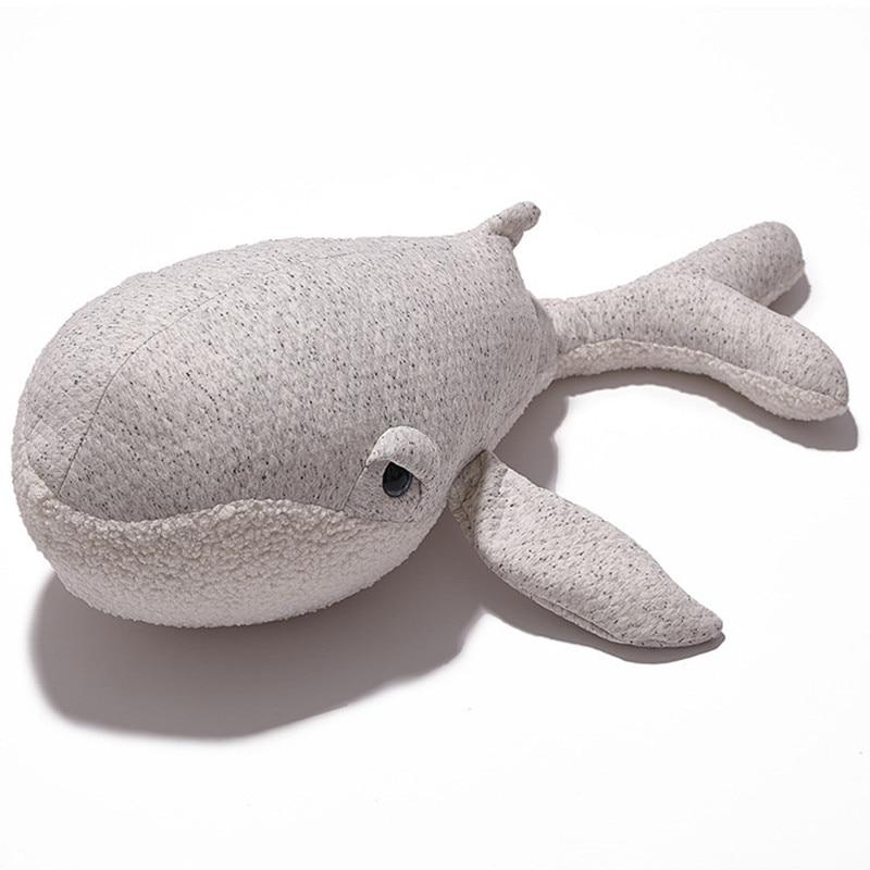 2019 baleia animal de pelucia travesseiro bebe recem nascido decoracao do quarto do bebe berco cama