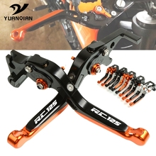 FOR KTM RC 125 RC125 2011-2019 Motorcycle Accessories CNC Aluminum Adjustable Foldable Extendable Motorbike Brakes Clutch Levers cnc aluminum motorbike motorcycle brake clutch levers foldable extendable for ktm rc8 rc8r rc 8 rc 8r rc 8 8r 2009 2016