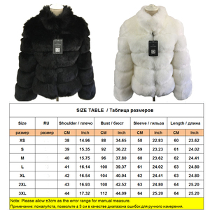 Image 5 - ZADORIN Fashion Winter Coat Women Luxury Faux Fox Fur Coat Plus Size Women Stand Fur Collar Long Sleeve Faux Fur Jacket fourrure