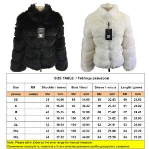 Image 5 - Zadorin Mode Winter Jas Vrouwen Luxe Faux Vos Bontjas Plus Size Vrouwen Stand Bontkraag Lange Mouw Faux Fur jas Fourrure