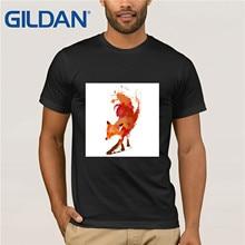 Unisex fox T-Shirt, Red  T-Shirt,  Clothing, S M L XL by Robert Farkas Funny Tees Cotton Tops T Shirt Cotton Tee Shirt Present robert slee t middle market m