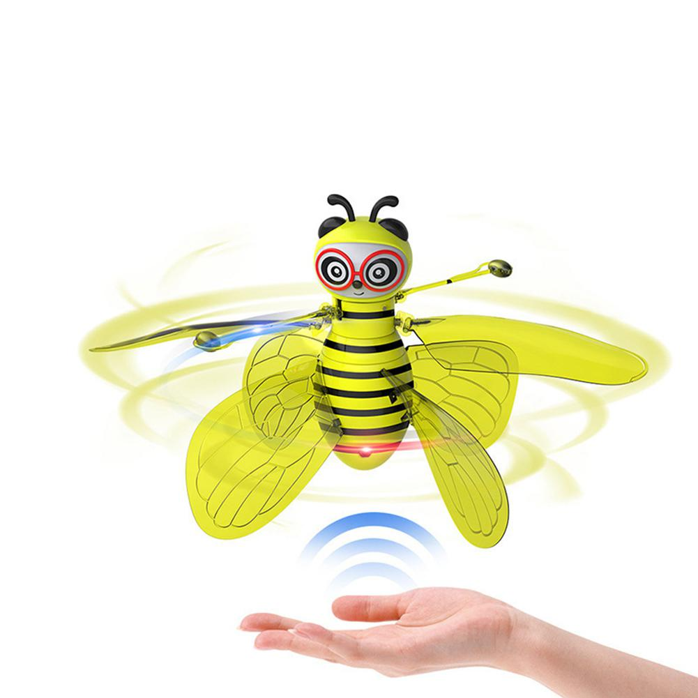 Kuulee RC Mini Infrared Sensor Bee Flying Induction <font><b>Minion</b></font> <font><b>Drone</b></font> Fly Aircraft Kids Toys image