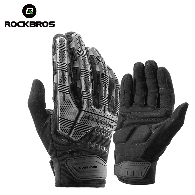 ROCKBROS Cycling Winter Gloves Windproof Touch Screen Non-slip Bike Gloves MTB Full Finger Gloves Bicycle Bike Equipment