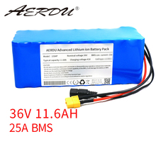 AERDU 36V 11.6Ah 12ah Lithium Battery Pack 18650 2900mAh 600W 500W 450W 350w 250W 37V Ebike Electric Car Bicycle Motor Scooter