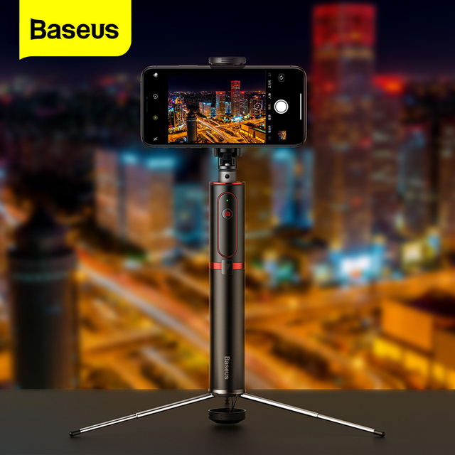 Baseus Bluetooth Selfie Stick Stativ Wireless Remote Selfiestick Für iPhone Xiaomi Huawei Android Handheld Erweiterbar Einbein