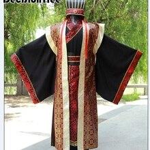 Мужской костюм Китайская традиционная одежда Новинка hanfu хлопковая одежда Императорский принц косплей костюм халат