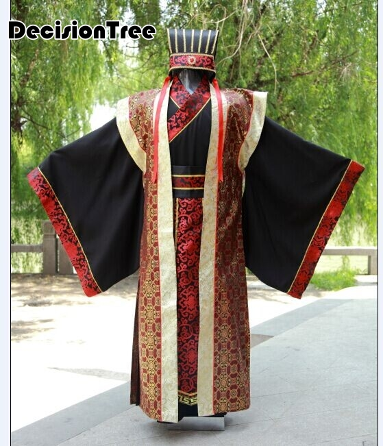 2020 Men Costume Chinese Traditional Clothes Novelty Hanfu Cotton Clothing Emperor Prince Show Cosplay Suit Robe