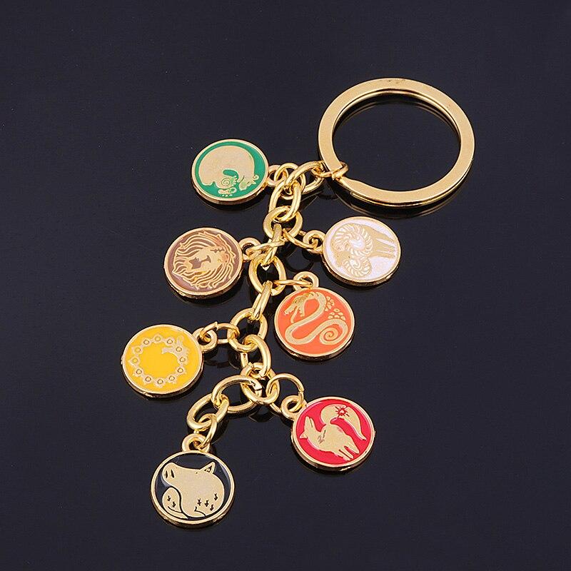 Les sept péchés capitaux Meliodas Escanor porte-clés Nanatsu no Taizai Dragon Lion sanglier chèvre renard protagoniste tatouage porte-clés bijoux