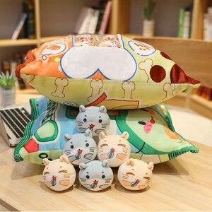 Image 5 - Hình Thú Hoạt Hình Bánh Túi Đồ Chơi Sang Trọng 8 Mini Bóng Động Vật Búp Bê Thỏ Bơ Chim Cánh Cụt Hamster Đệm Đạo Cụ Plushie Tặng