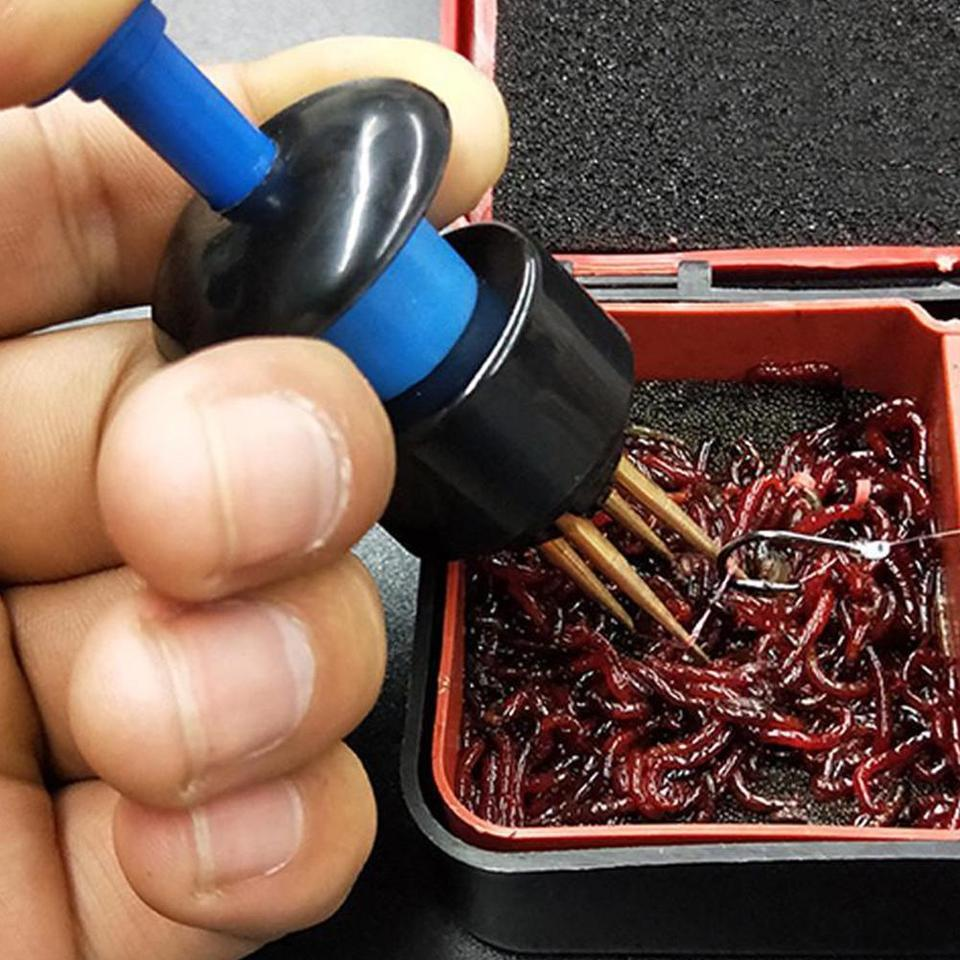 Fishing Tackle Tool Particle Clip Bait Earthworm Red Maggot L8T7 Worm Live Z7L1