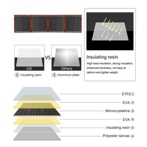 Image 3 - Dokio 18V 150W Zonnepaneel Monokristallijn Lading 12V Draagbare Foldble Zonnepaneel China Voor Boten/Out deur Kamperen/Auto/Rv