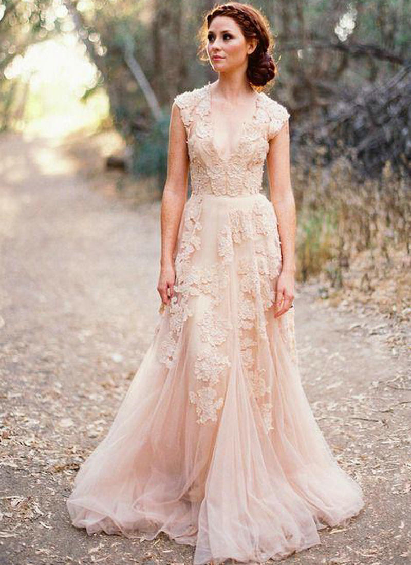 Lace Appliques 2018 A-line Bridal Gown Vintage Country Garden Vestido De Noiva Off The Shoulder Mother Of The Bride Dresses