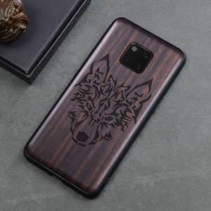 Image 4 - Novo Para Huawei Companheiro 20 Pro Caso Tampa de Madeira de Ébano Preto Para Huawei Companheiro 20 Esculpido Carros TPU Caso De Madeira para Huawei Companheiro 20 X Pro