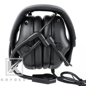 Image 3 - KRYDEX Tactical Headset With Micphone Peltor Black Noise Reduction Sound Pick Up Communication Electronic Detachable Headphone