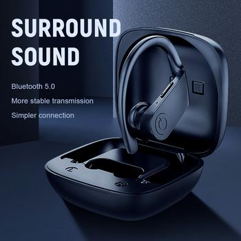 Bluetooth słuchawki 5 0 TWS bezprzewodowe Headphons słuchawki sportowe słuchawki douszne 3D zestaw słuchawkowy Stereo do gier z mikrofonem etui z funkcją ładowania dla telefonu tanie i dobre opinie KUGE Inne CN (pochodzenie) Bezprzewodowy + Przewodowe Do Internetu Bar Monitor Słuchawkowe Do Gier Wideo Wspólna Słuchawkowe