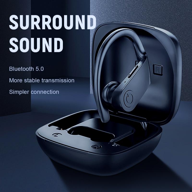 Bluetooth наушники 5,0 TWS Беспроводные наушники с головным убором спортивные наушники 3D стерео игровая гарнитура с микрофоном зарядная коробка д...