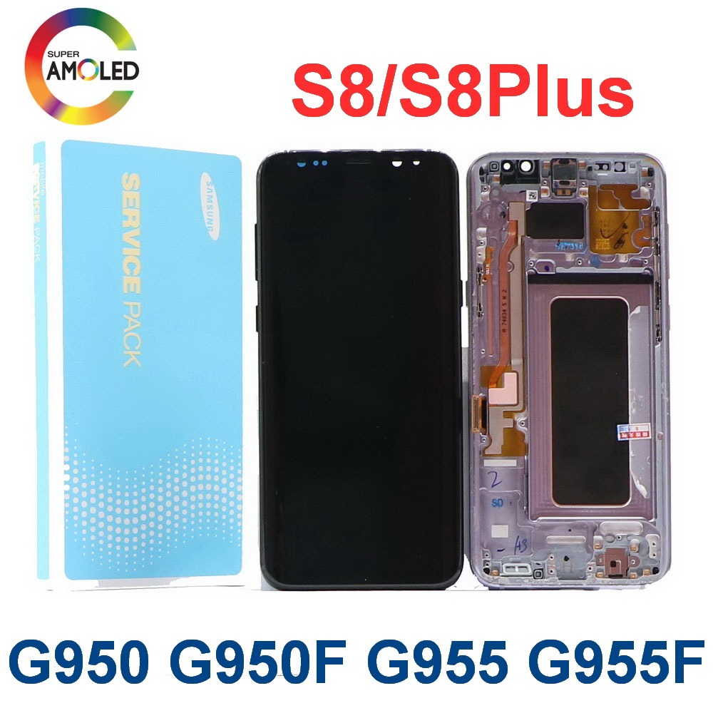 Original LCD For Samsung Galaxy S8 S8plus G950 G950F G955FD G955F G955 With Dead Pixels Lcd Display With Touch Screen Digitize