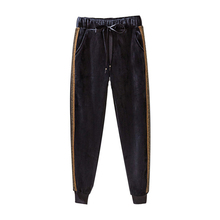 2019 Oversize winter plus velvet thicken casual trousers wom