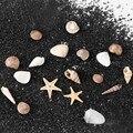 1/2/5 коробка 3D натуральное украшение для ногтей мини ракушки крошечные морские звезды морские пляжные украшения маникюрные инструменты для ...