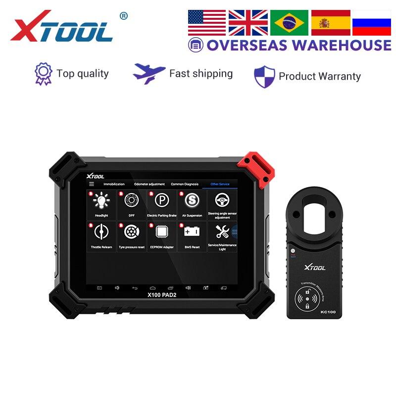 XTOOL X100 PAD2 PRO programmeur de clé automatique réglage odomètre OBD2 outil de diagnostic de voiture immobilisateur professionnel pour Audi 4th 5th