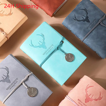A6 Retro notebook diary notepad vintage PU leather notebook replaceable stationery gift traveler's diary planner dropshipping