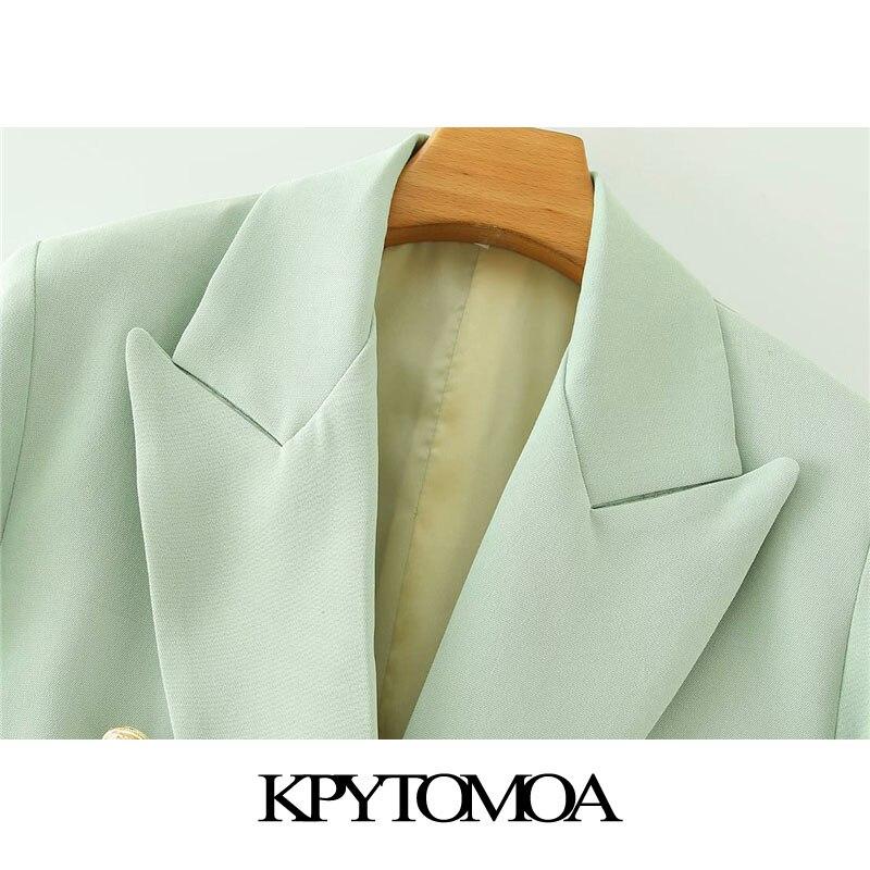 breasted blazer casaco vintage bolsos de manga 02