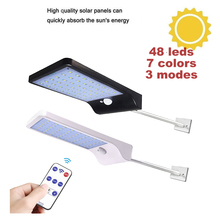 Remote Control Solar powered Lamp Human Body Induction street spot flood Wall Light 3 Modes Outdoor Garden Yard Path waterproof 5pcs remote control solar panel powered road light 20w 30w 50w led street light outdoor garden path spot wall emergency lamp