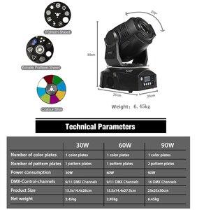Image 4 - 2 pces conduziu o ponto 90w com 6 prisma da cara 60w luz do ponto dmx512 efeito de palco dj disco party dança piso controlador de som música