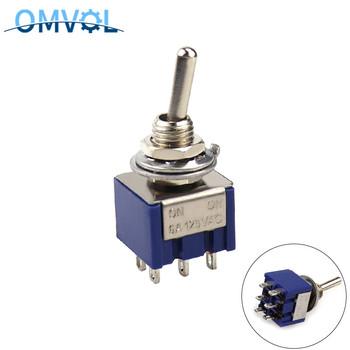 MTS-202 ON-ON 6 pins Miniature Toggle Switch 6mm mounting size MTS-203 ON-OFF-ON - sale item Electrical Equipment & Supplies