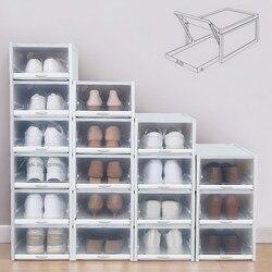 Wysokiej jakości szuflady składane pudełko na buty zagęszczony przezroczysty schowek na buty zaoszczędzić miejsce plastikowe organizator domu salon