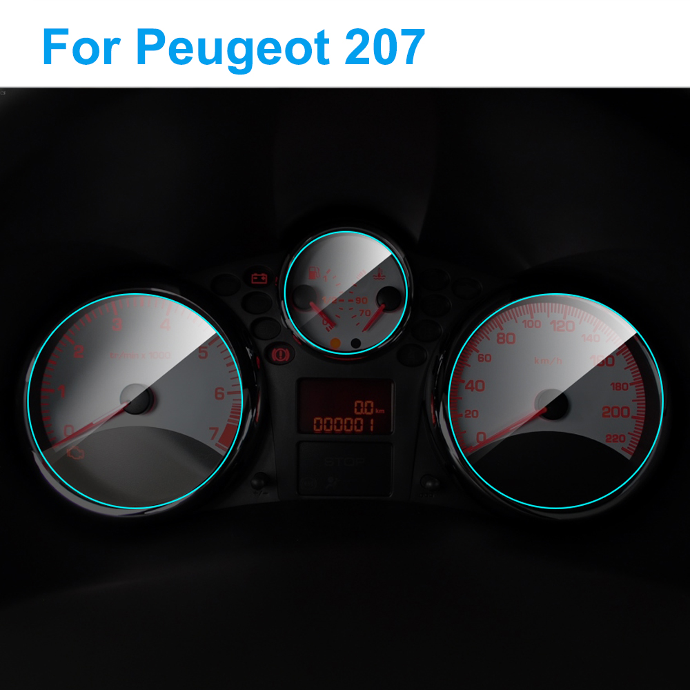 Car Instrument Panel Screen Protector Auto Interior TPU Film For Peugeot 207 Dashboard Membrane Protective Film Car Accessories