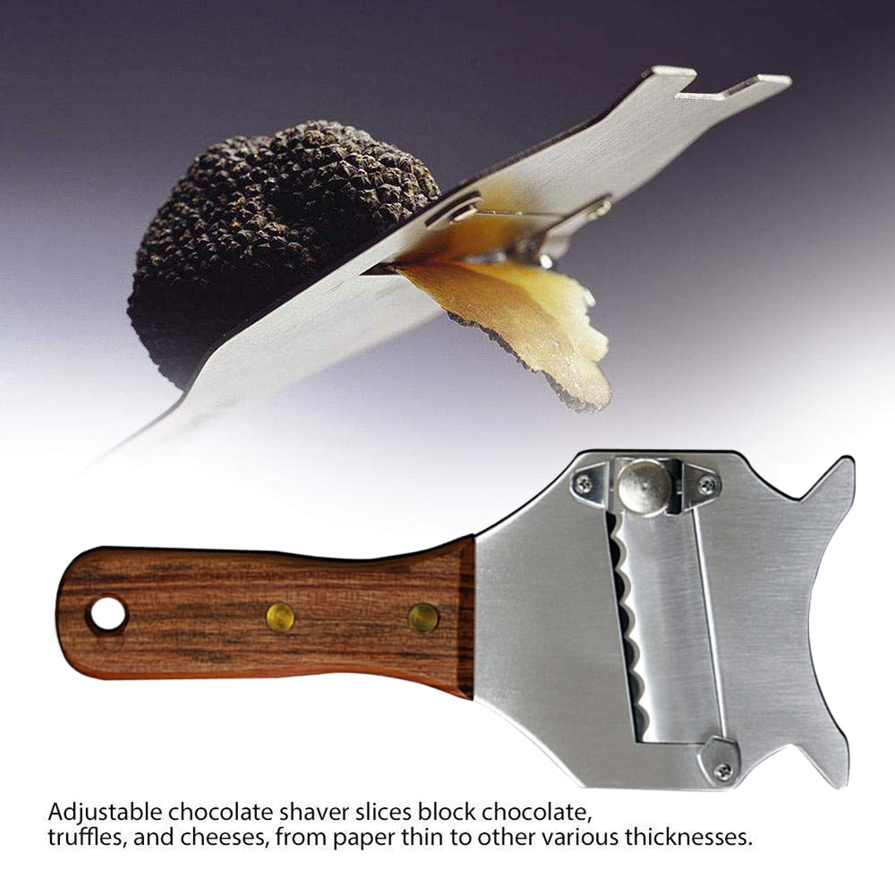 Stainless Steel Truffle Cheese Slicer Adjustable Chocolate Shaver Wavy Blade