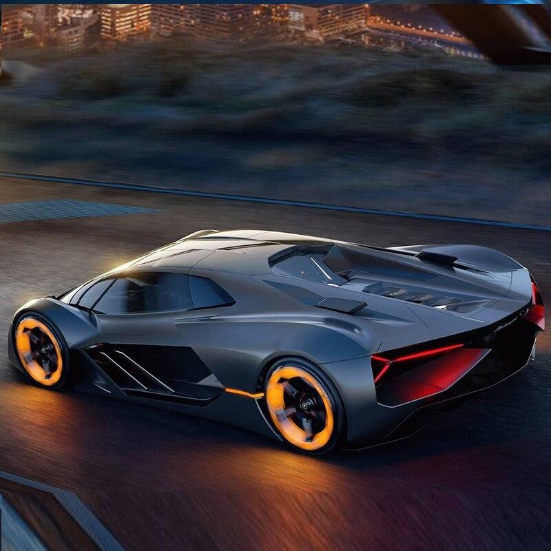Bburago 1:24 Lamborghini Terzo Millennio, модель автомобиля из черного сплава, модель для моделирования, украшение автомобиля, коллекция, Подарочная игрушка, литьевая модель