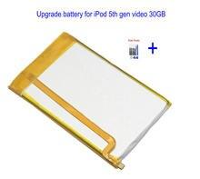 1x3000 mah ssd hd atualizar bateria para ipod 5th gen vídeo 30gb ipod 6th gen clássico 80gb 120gb 7th gen 160gb + kit de ferramentas de reparo