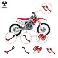 Motorcycle Foot Pegs Gear Shift Pedal Brake Clutch Lever Kit For HONDA CRF250R CRF450R CRF250X CRF250RX CRF450RX CRF 250R 250X
