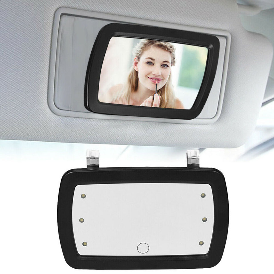 Car Sun Visor Mirror Led Lighted Clip On Sun Visor Vanity Mirror Car Automobile Light Cover Touch Switch Auto Supplies Interior Mirrors Aliexpress