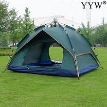 Tent Oxford Cloth Waterproof Folding Sun Protection 4 Men Tourist Outdoor Naturehike Camping Travel Automatic Family Sun-Proof(China)
