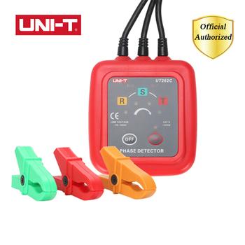 UNI-T UT262A UT262C bezdotykowy detektor fazy rozpoznawanie sekwencji Tester oceny zacisk mierniki prądu multimetr Buzzer tanie i dobre opinie Elektryczne Zasilany baterią UT262A UT262C Red and grey 180g 70mm x 75mm x 30mm