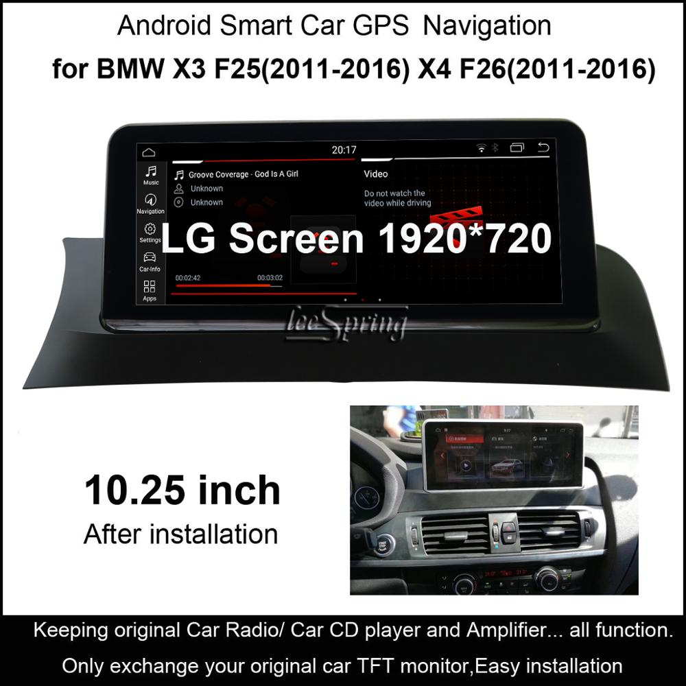 10.25 inch IPS Screen Android 9.0 Car GPS Navigation for <font><b>BMW</b></font> X3 F25/for <font><b>BMW</b></font> <font><b>X4</b></font> F26 (2011-2016 Original CIC or NBT System) image