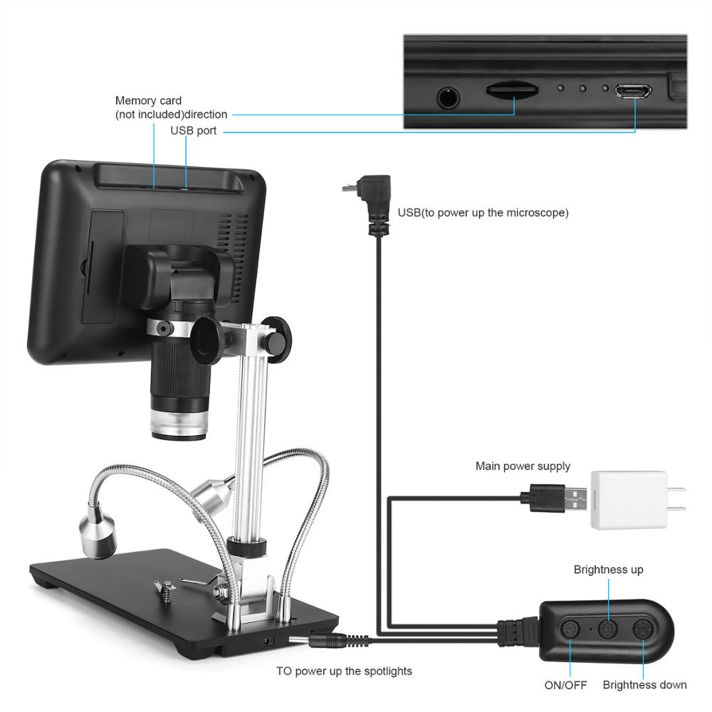 Andonstar AD206 1080P Digital Microscope for Phone Repairing SMD and SMT 5