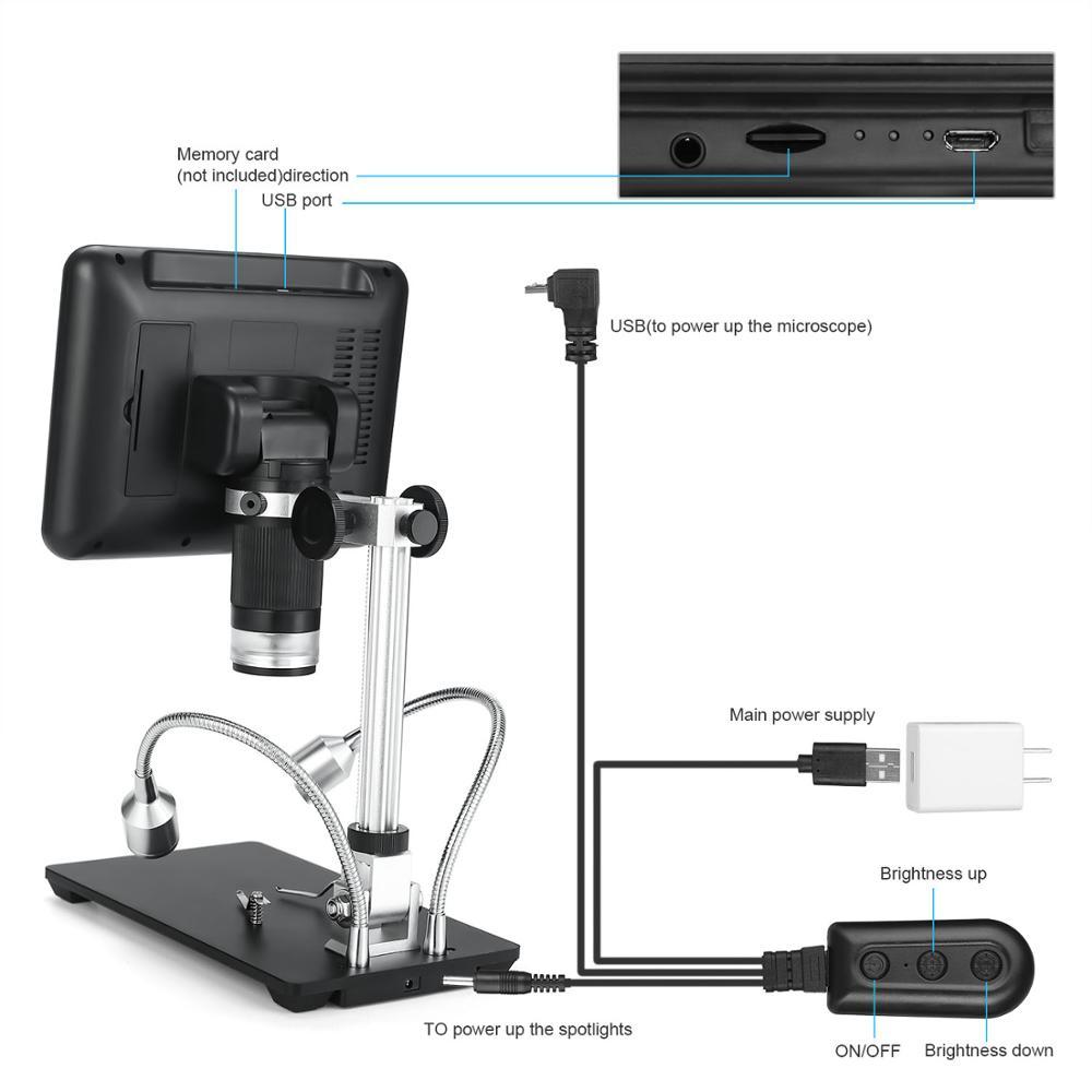 Ultimate SaleAndonstar Digital Microscope Repairing AD206 for 1080P Phone-Watch White Black SMD/SMT