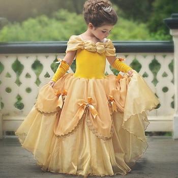 2-10T Children Princess Cosplay Costume Tutu Dress Girls Kids Ball Gown Halloween Party Evening Dresses