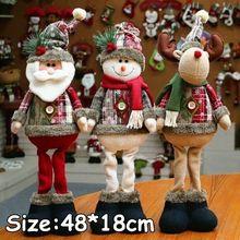 Новые Горячие 48 см Снеговик Лось Санта стоячие куклы Рождественское украшение для дома