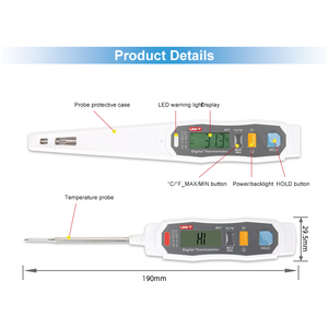 Image 2 - A61 IP65 حماية التحقيق نوع المنزلية ميزان الحرارة تجهيز الأغذية ميزان الحرارة السائل/شبه الصلبة الداخلية مقياس درجة الحرارة
