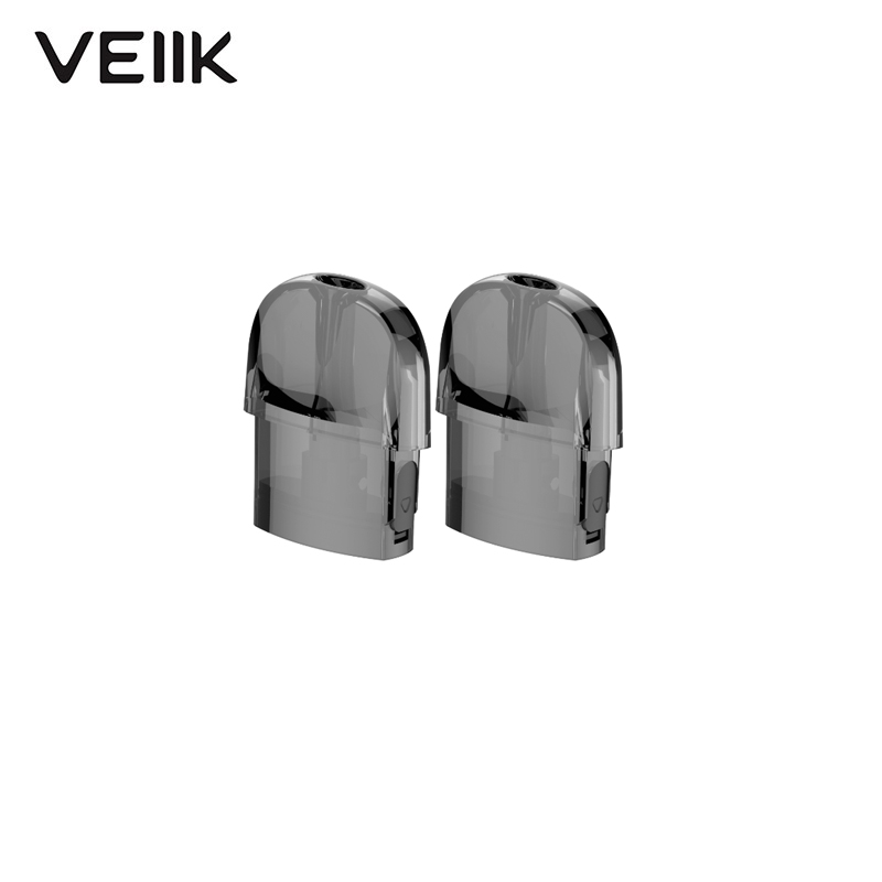 Ready Stock 2pcs Original Veiik Airo Pod Kit Replacement Pod 2ml Capacity Cartridge 1.2ohm For Veiik Airo Pod Kit Vape